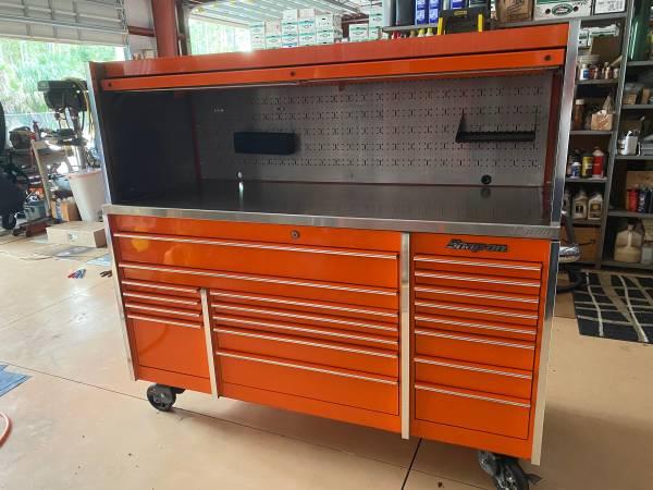 Photo Snap on , Tool box , KRL7023CPJK roller,KRL7972APJK Hutch, orange , - $5,950 (Naples fl)