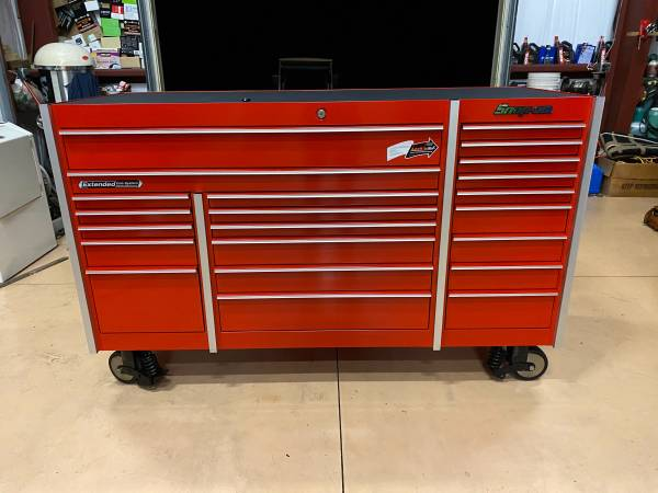 Photo Snap on , tool box , KRL1023 triple bank roller bottom , snap on , red - $4,550 (Naples)
