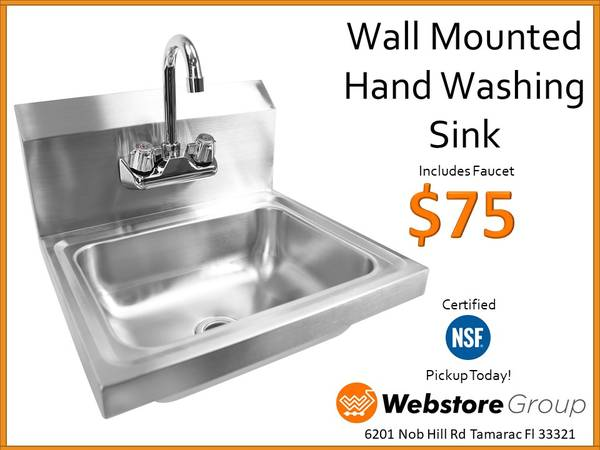 Photo Stainless Steel Sinks - NSF Certified Sinks - Commercial - New - $75 (Tamarac)