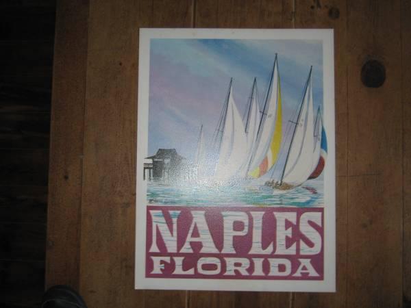 Photo Vintage Original NAPLES SAIL BOATS Print By W Harold Hancock - $25 (Cape Coral)