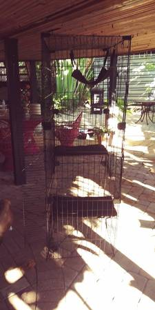 Photo tall cat cage - $75 (Fort Myers Beach)