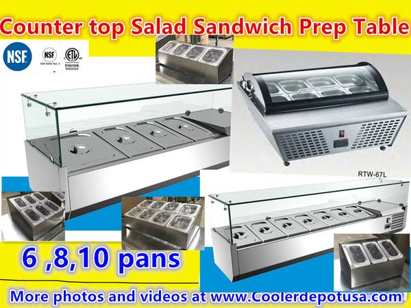 Photo tray condiment station sauce bar Counter top Salad Sandwich Prep Table - $1,070 (100 new)