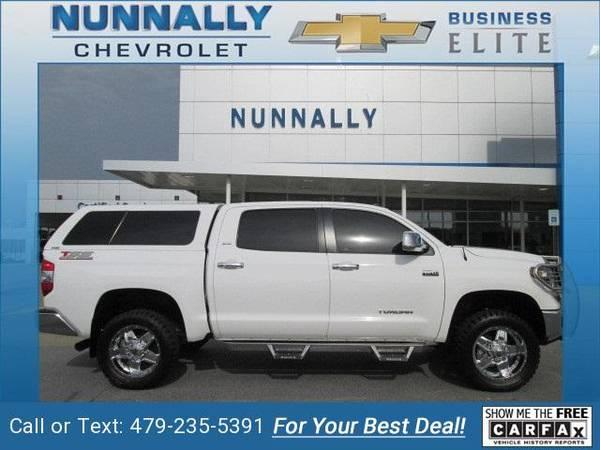 2018 Toyota Tundra pickup Super White (CALL 479-235-5391 ...