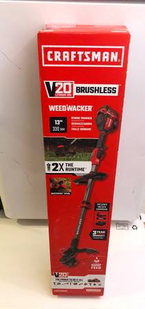 Photo 20-Volt Max CRAFTSMAN 13-in Straight Cordless String Trimmer (Battery Included) - $135 (Fort Smith)