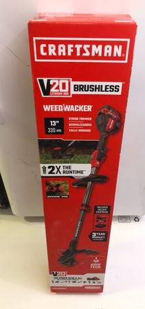 Photo 20-Volt Max CRAFTSMAN 13-in Straight Cordless String Trimmer (Battery Included) - $120 (Fort Smith Arkansas)