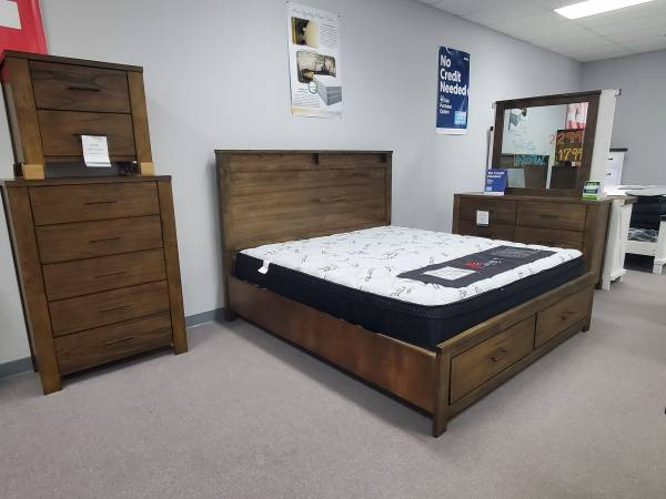 Photo King Brown Modern Bedroom Group - $1,699 (Fort Smith)