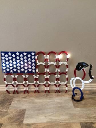 Photo Patriotic Horseshoe Art - $190 (Van Buren)