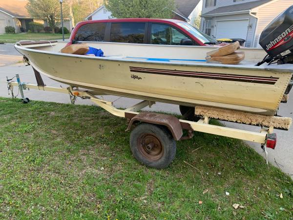 Photo 1989 sea nymph with 99 Johnson 25 hp outboard - $3,000 (Fort Wayne)