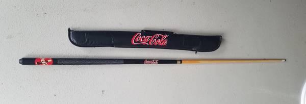 Photo Coca-Cola ( Coke ) Billiards ( Pool ) Cue And Case, Make Offer Cue (Fort Wayne)
