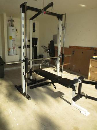 Photo Home Gym Club Weider 550 Smith machine with over 275 lbs. of weights - $525 (Fort Wayne)