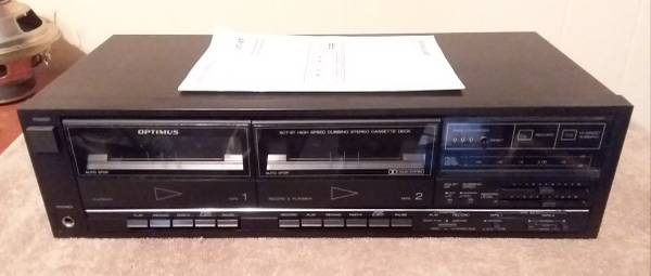 Photo Optimus Dual Cassette Deck - $30 (Fort Wayne)