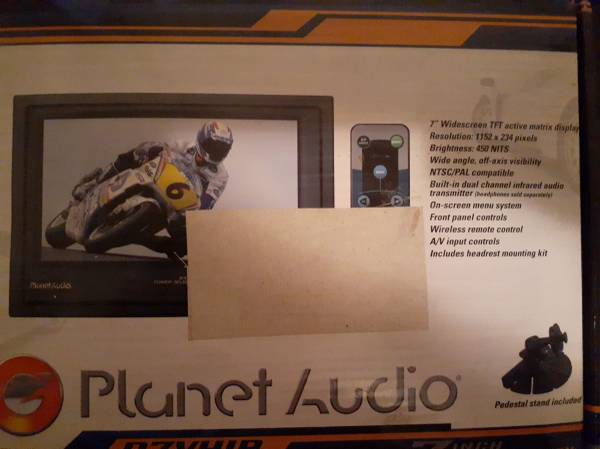 Photo Planet Audio 7quot Widescreen Headrest Monitor - $45 (Fort Wayne)