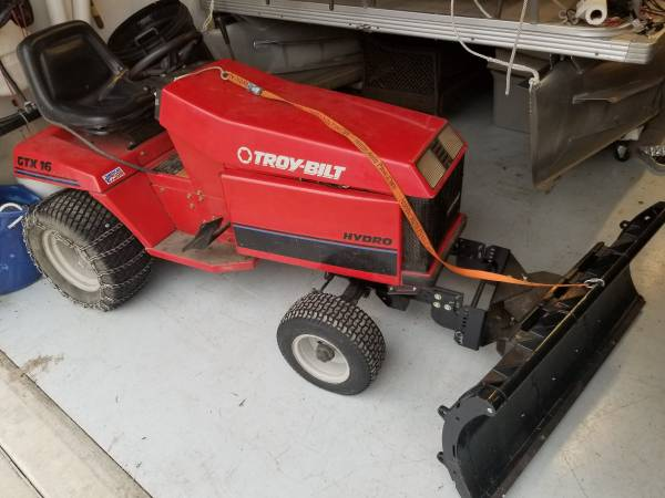 Photo Troy built Tractor with Snow Blade - $750 (Fremont)