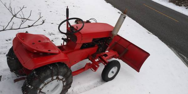 Photo Wheel Horse Garden Tractor With Plow  Deck - $400 (Plymouth,IN.)