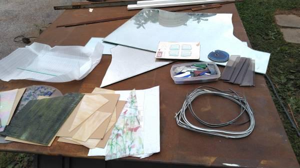 Photo Art glass materials, stained glass, mosaic, slump - $15 (Keymar, MD)