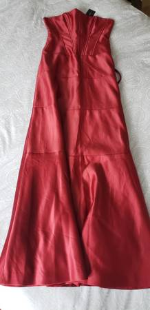 Photo BCBG Max Azria  Red Satin Dress  Size 6 New w Tags - $60 (Urbana)