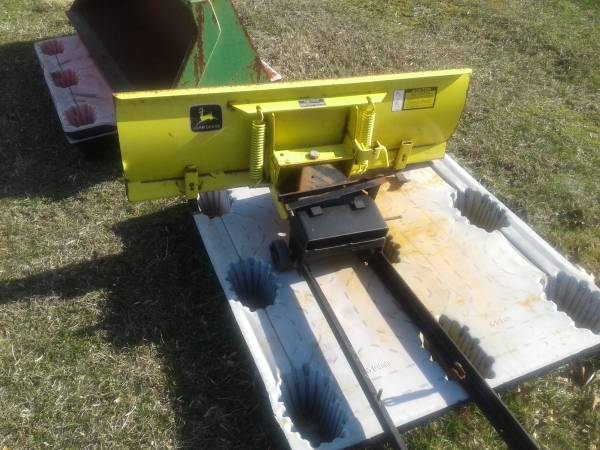 Photo John Deere snow plow reduced - $75 (Woodbine)