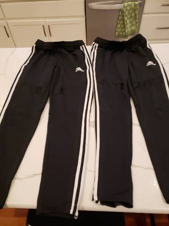 Photo Lot of 2 - ADIDAS Boys Sz L Tapered Leg Classic Soccer Pant. - $9 (Mount Airy)