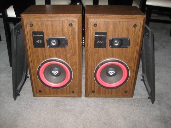 Vintage Cerwin Vega At 8 Two Way Large Bookshelf Floor Speakers
