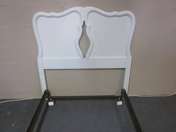 Photo White twin size headboard with bed frame - $145 (Hagerstown)