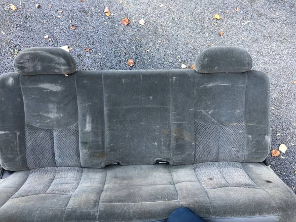 Photo Rear bench seat from a 2003 Chevy 2500 Extended Cab Truck - $100 (Boonsboro, MD)