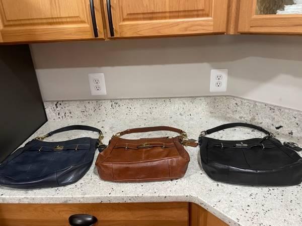 Photo 3 Coach Purses - Black Brown and Dark Blue - $50 (Locust Grove, VA)