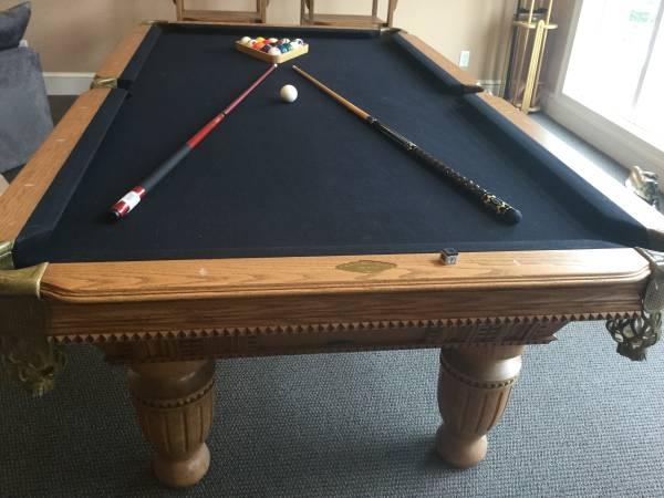 Photo Beautiful 839 ProLine Pool TableIncludes Installation - $2,900 (Fredericksburg  Surrounding Area)