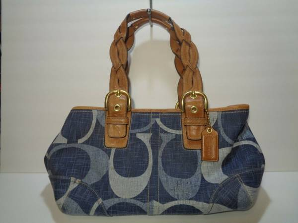 Photo COACH BAG DENIM LEATHER COACH PURSE - $55 (CULPEPER)