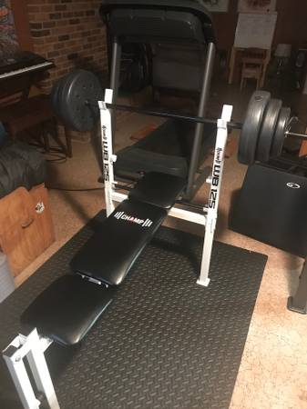 Photo Standard Weight Bench With 1 inch weights included - $300 (Fredericksburg)