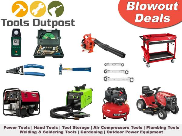 Photo Tools Blowout Sale Drill Guns, Hand Tools, Welding Electrical