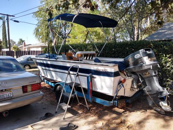 Photo 18 ft aluminum ocean , fresh( pinks in hand )water fishing boat - $3,000 (Fresno CA)
