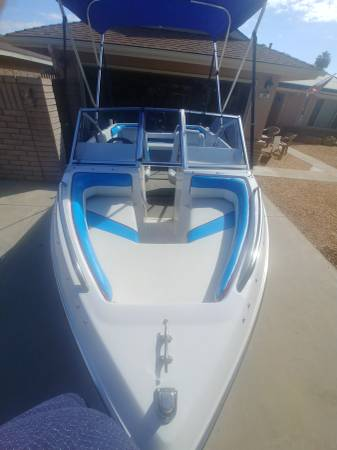 Photo 1992 Four Winns Boat with 2013 50hp Outboard Motor - $5900 (Fresno)