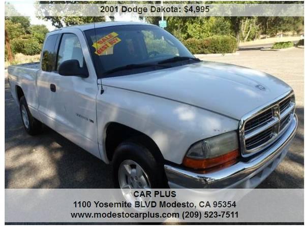 Photo 2001 DODGE DAKOTA REGULAR CAB SHOR BED V6 LOW MILES ONE OWNER 70K MILE - $4995 (MODESTO)