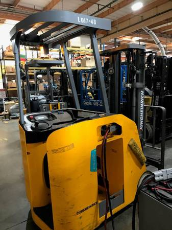 Photo 2017 Jungheinrich Forklift Electric Stand Up End Control Three Stage (Fresno)