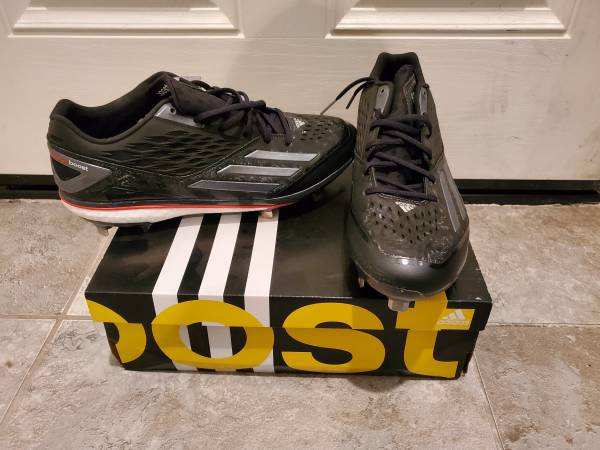 Photo Adidas Energy Boost Icon Baseball Metal Cleats Sz 12 - $15 (Marks and Herndon)
