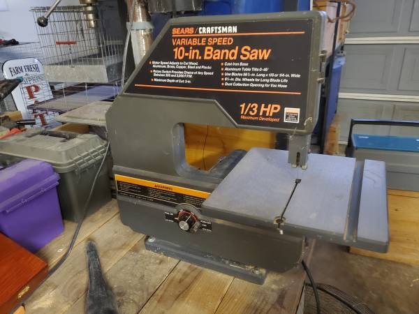 Photo Band Saw Sears Craftsman 10 inch variable speed 13 horsepower - $75 (Clovis)