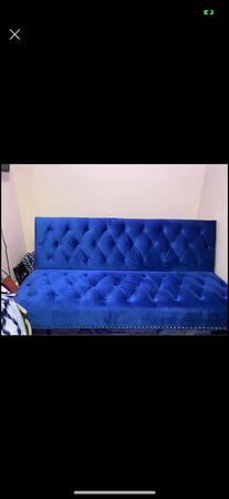 Photo Cobalt blue futon $350 firm - $350 (Fresno)