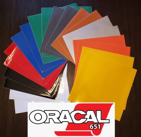 Photo Craft Vinyl ALL COLORS AND STYLES cricut cameo etc... Oracal Styletech - $1