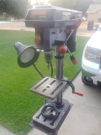 Photo Craftsman Drill Press WStand and Light - $175 (Madera)