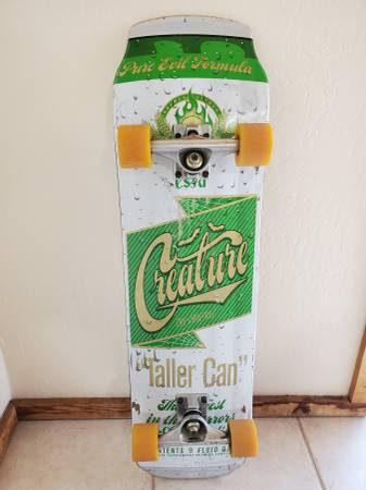 Photo Creature Skateboard Deck Limited Cruiser Tall Beer Can 8.25x31.77 - $90 (Marks and Herndon)
