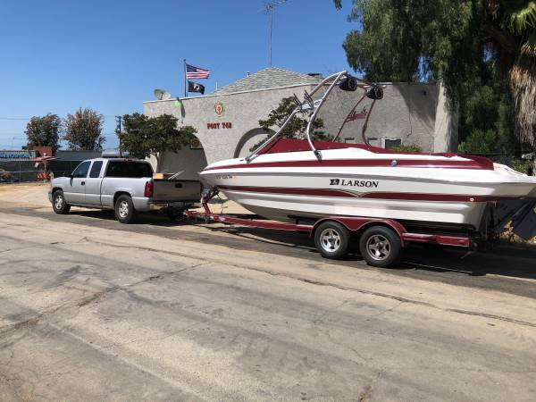 Photo Larson LXI 248 open bow boat wakeboard tower deck - $30,000 (Bass Lake)