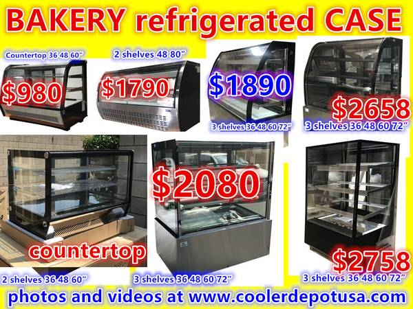 Photo NSF 3648566074 Glass SS Bakery Display Case - $849 (100 new)
