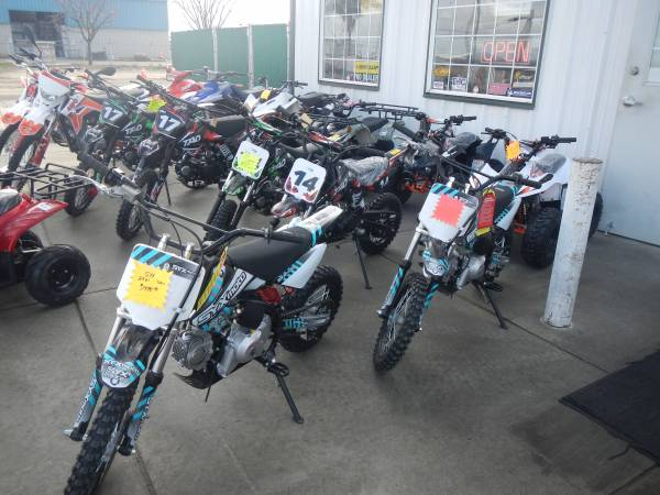Photo New dirt bikes,pit bikes, from Tao, Kayo, SYX - $1,995 (3967 E CENTRAL AVE. FRESNO CA.)