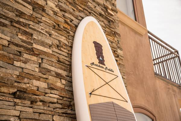 Photo Real Bamboo Paddle Board SUP Stand Up Paddleboard wpaddle fins (New) - $750 (Fresno)