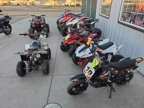 Photo brand new kids dirt bikes and Quads - $1,095 (Fresno)