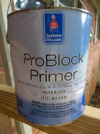 Photo 1 gallon of Sherwin Williams white interior oil based primer - $15 (Marietta, E. Cobb)