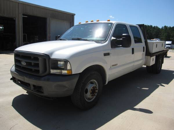 Photo 2004 Ford F350 Crew Cab Flatbed Powerstroke - $5400 (Muscadine)