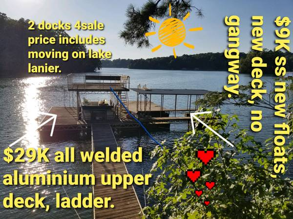 Photo 2 boat docks forsale. Or MAY TRADE, Lake lanier. - $9,000 (Gainesville)