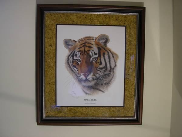 Photo I.H. Farnsworth Signed Bengal Tiger - $180 (Sandy PlainsEbenezer)