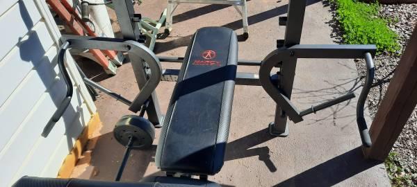 Photo Marcy weight bench w leg developer - $125 (delta)
